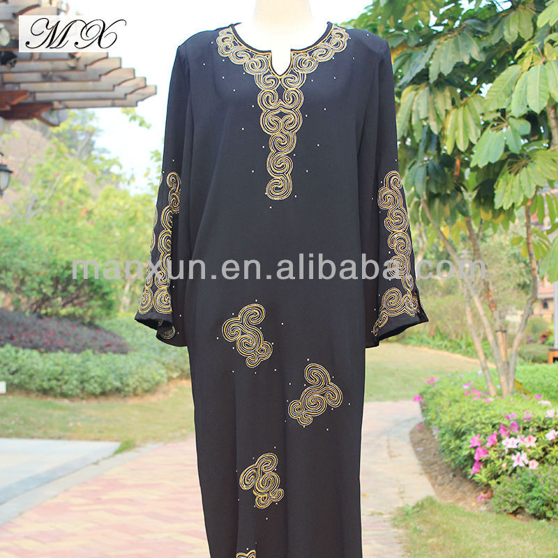 Plain Black Abaya Kaftans Arabic Kaftans for Women