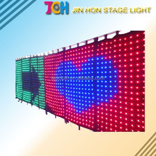 Cheap price Flexible LED Curtain Display/soft video background led curtain