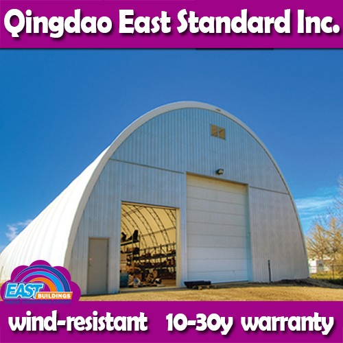 East Standard prefab canvas roofing structures