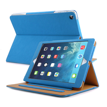 Universal Tablet Case For Ipad 2/3/4 Black Tan Cases PU Leather Bag Cover With Sleep Wake
