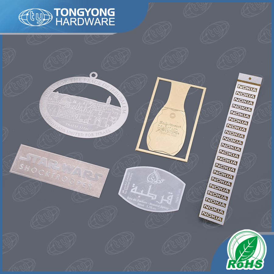 Custom engraved logo perforated metal plate