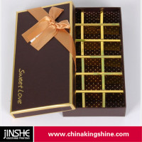 Luxury fancy paper chocolate gift packaging box