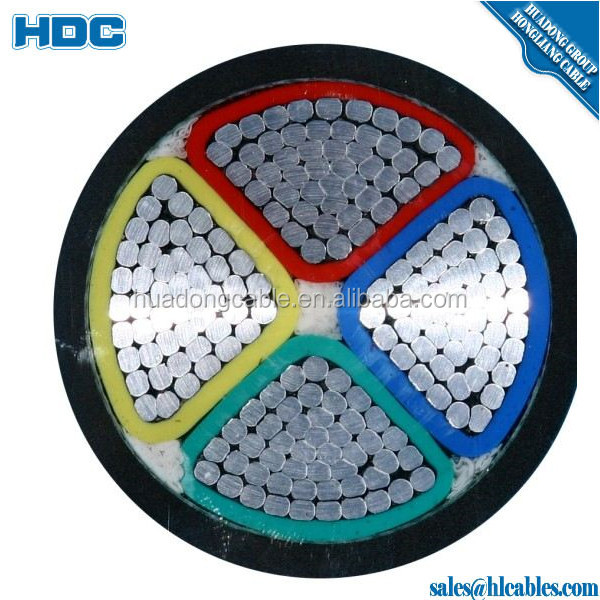 PVC Insulated Single Core Aluminum Power Cable 300mm2