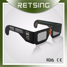 Black Frame Linear Polarized 3D Eyewear 3D Glasses For Video