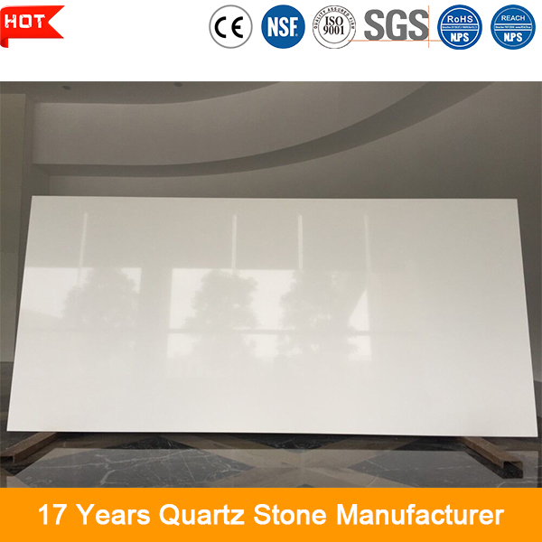 Construction material high hardness durable pure white quartz stone