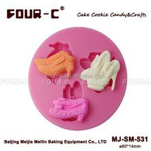 Chocolate Decorating Mold Lady Shoes Cup Cake Molds , fondant craft mold,decorative cake mold
