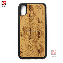2017 Wood+TPU+PC Newest Wood Carving TPU Cell Phone Case For iPhone X Wood Laser Engraving Pattern