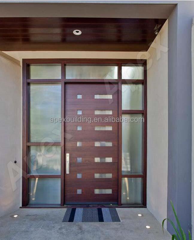 Latest teak wood front door design buy teak wood front door - Solid Teak Wood Front Door Modern Design Wood Screen Door
