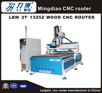Libo China customized 1325 wood door and furniture blanking taiwan syntec controller cnc machine LBM-2T-1325Z