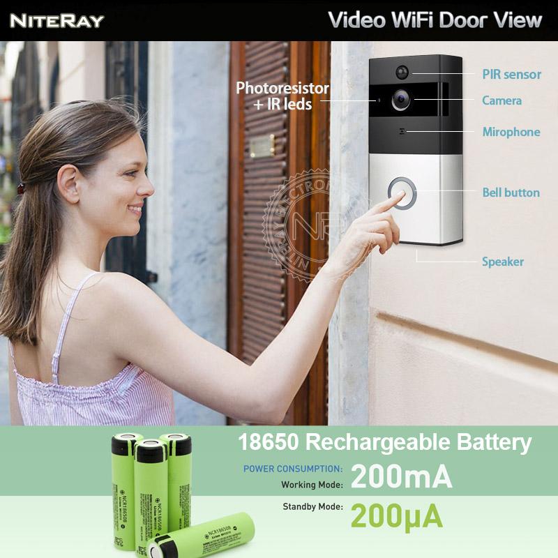 Android ios inal mbrico puerta mirilla visor de la c mara ip de la puerta inal mbrico timbre de - Camara mirilla puerta wifi ...