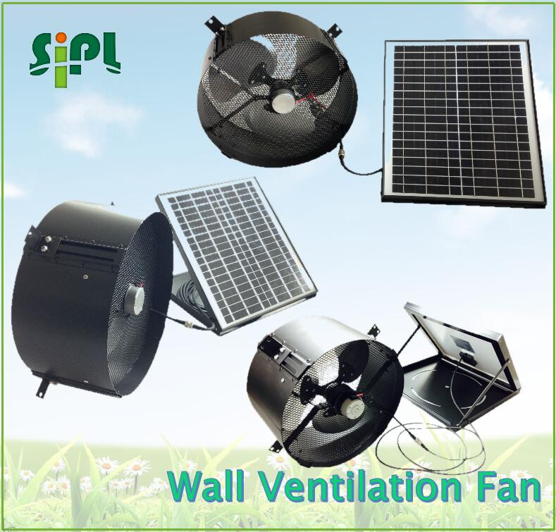 Sunny solar panel wall mounted ventilation fan exhaust fan air conditioning solar powered system vent kits ventilation fan