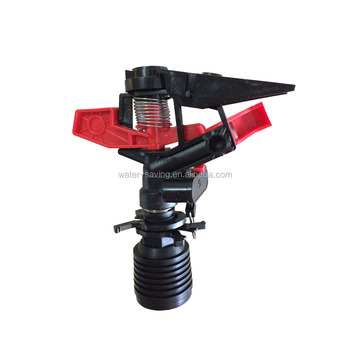 Black plastic adjustable spraying angle rotary sprinkler for irrigation with ISO 9001