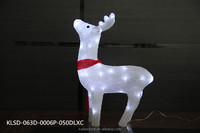 Customized design best selling christmas decor 3d deer motif light made in China