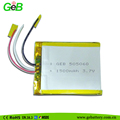 Rechargeable lithium polymer battery 3.7v1500mah