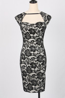 MIKA6091 Fashion women formal bodycon lace dress