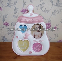 baby bottle shaped mini photo frame for baby shower