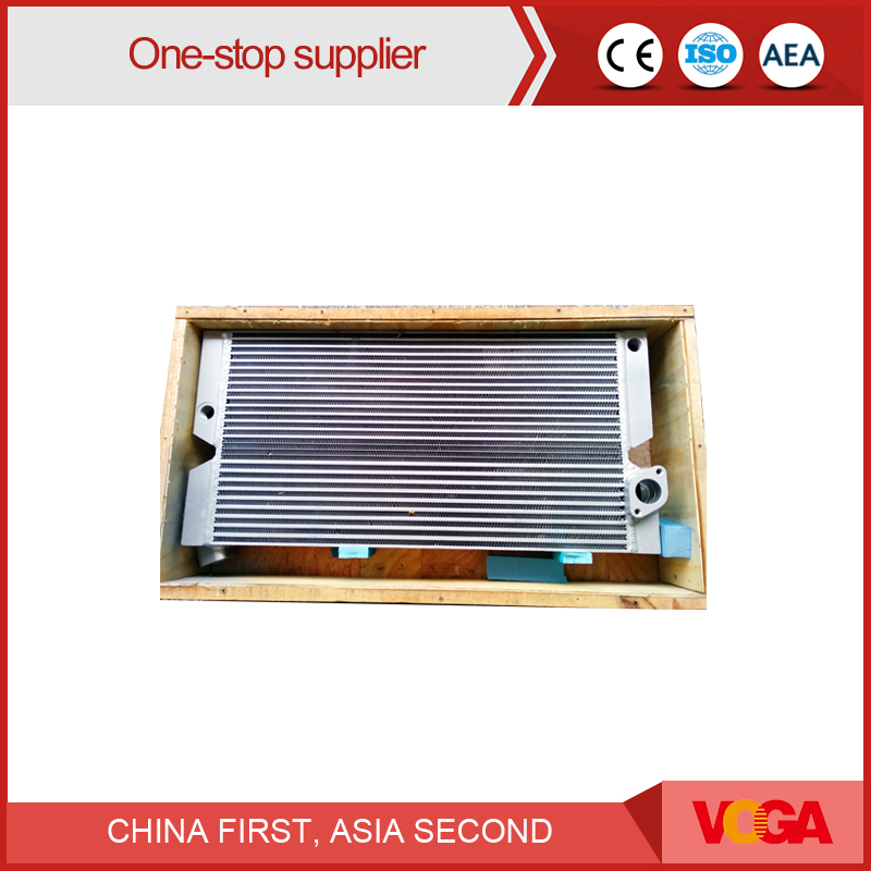 Heat exchanger oil radiator for air compressor