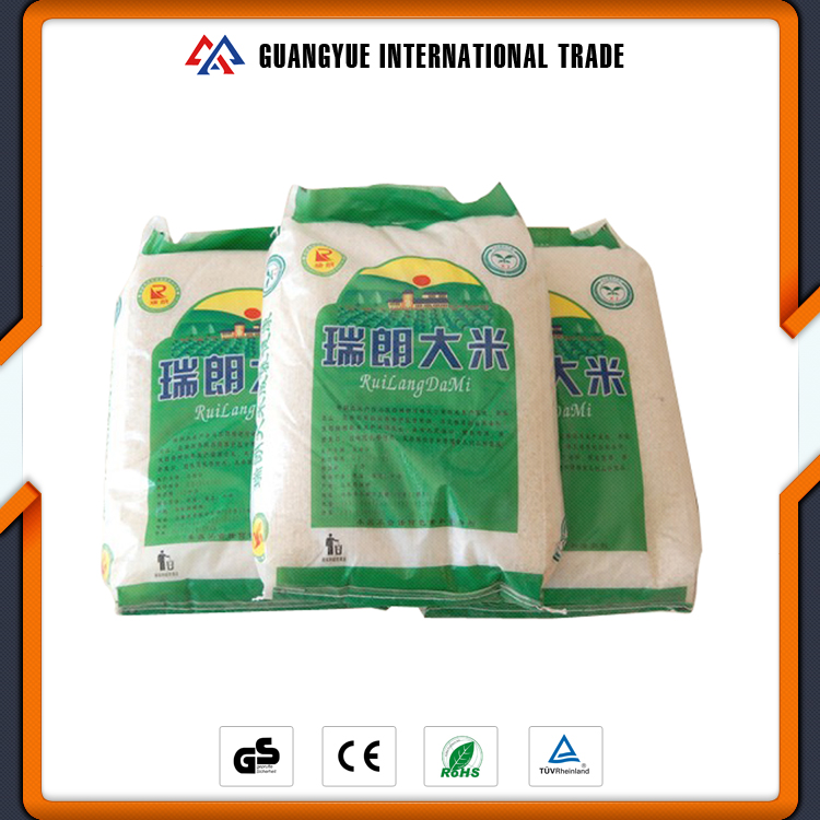 Guangyue China Supplier Durable PP Woven Sack / Woven Bag Used For Packing Rice