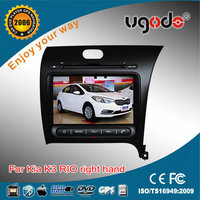 wholesale special car radio tv dvd for KIA K3 right hand car stereo with built in DVD GPS radio bluetooth USB IPOD TV