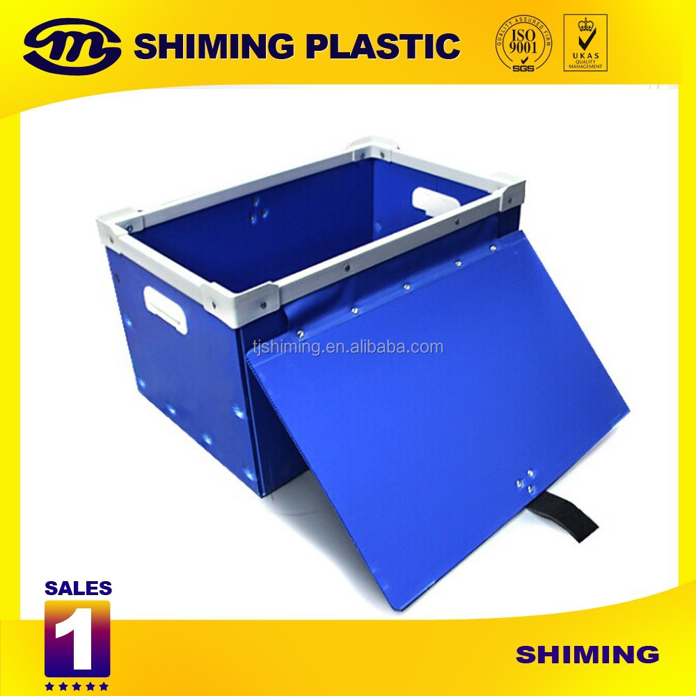 corrugated plastic handles packing box