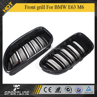 Carbon fiber Front grill For BMW E63 M6 11-13