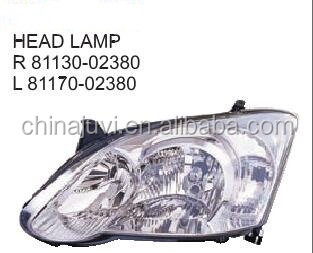 High quality Auto HEAD LAMP For 2004 Toyota Corolla 30/5D OE:81130-02380 81170-02380 81130-13330 81170-13330