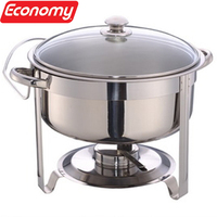 Economy glass chafing dish