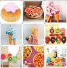 2016 new arrival 3D digital print special shape simulated food shape cushion Doughnut food doll pillow