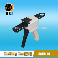 50ml 4:1/10:1 Dental dual glue dispensing gun for polyurethane foam spray gun