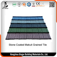 Zhejiang ASA Layer Interlocking Stone Coated Metal Roof Tiles Prices