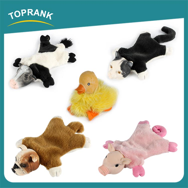 TOPRANK Professional Manufacturer Hot Sale Cute Pet Plush Toys Discount Best Dog Toys For Chewers