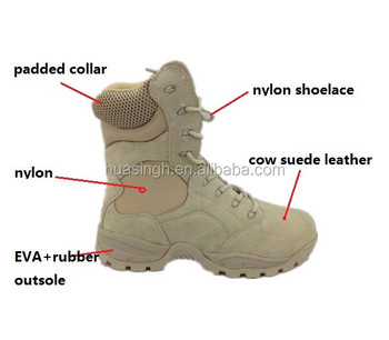 shock resistant military stealth force suede leather desert boots for combat