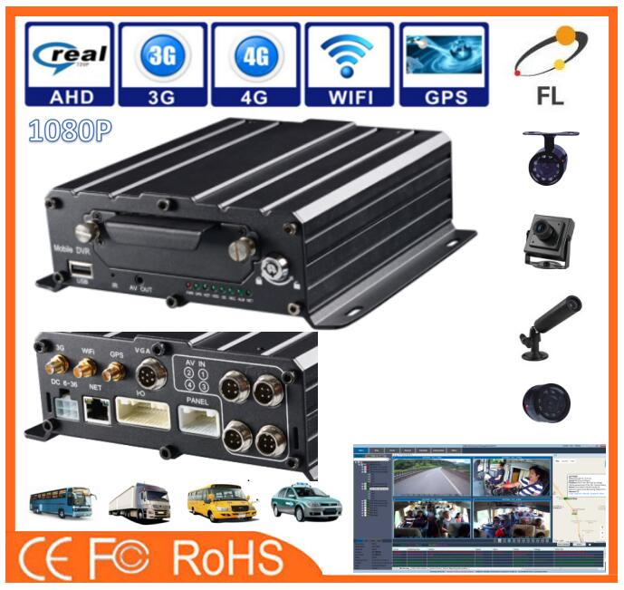AHD 4channels 1080P Car Camera For Ssangyong Korando integrate with LED advertisement panel