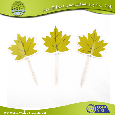 2014 Eco-friendly disposable bamboo fruit cocktail sticks For Food