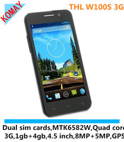 "KOMAY THL W100S Quad Core MTK6582M android 4.2 phone RAM 1GB with 4.5"" screen 1.3GHz GPS cell Phone"
