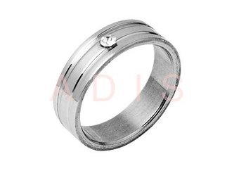stainless steel jewelled ring