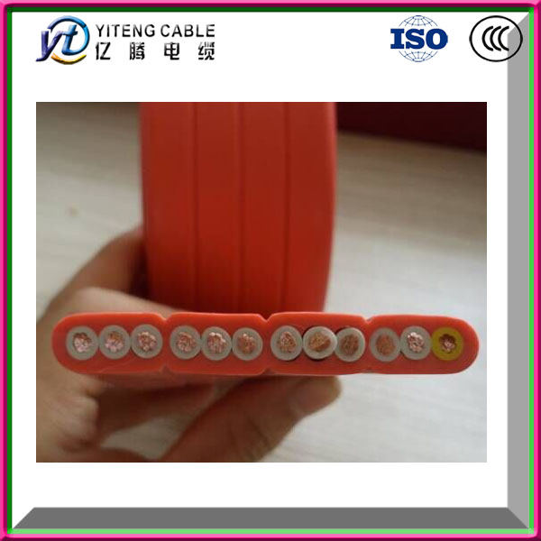 Flat and flexible rubber sheathed cable for gantry