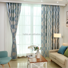 Hotel project faux linen 3pass blackout curtain fabric