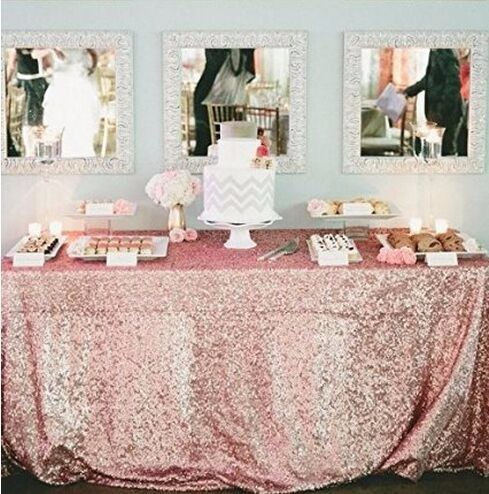 wedding banquet party sequin table cloth