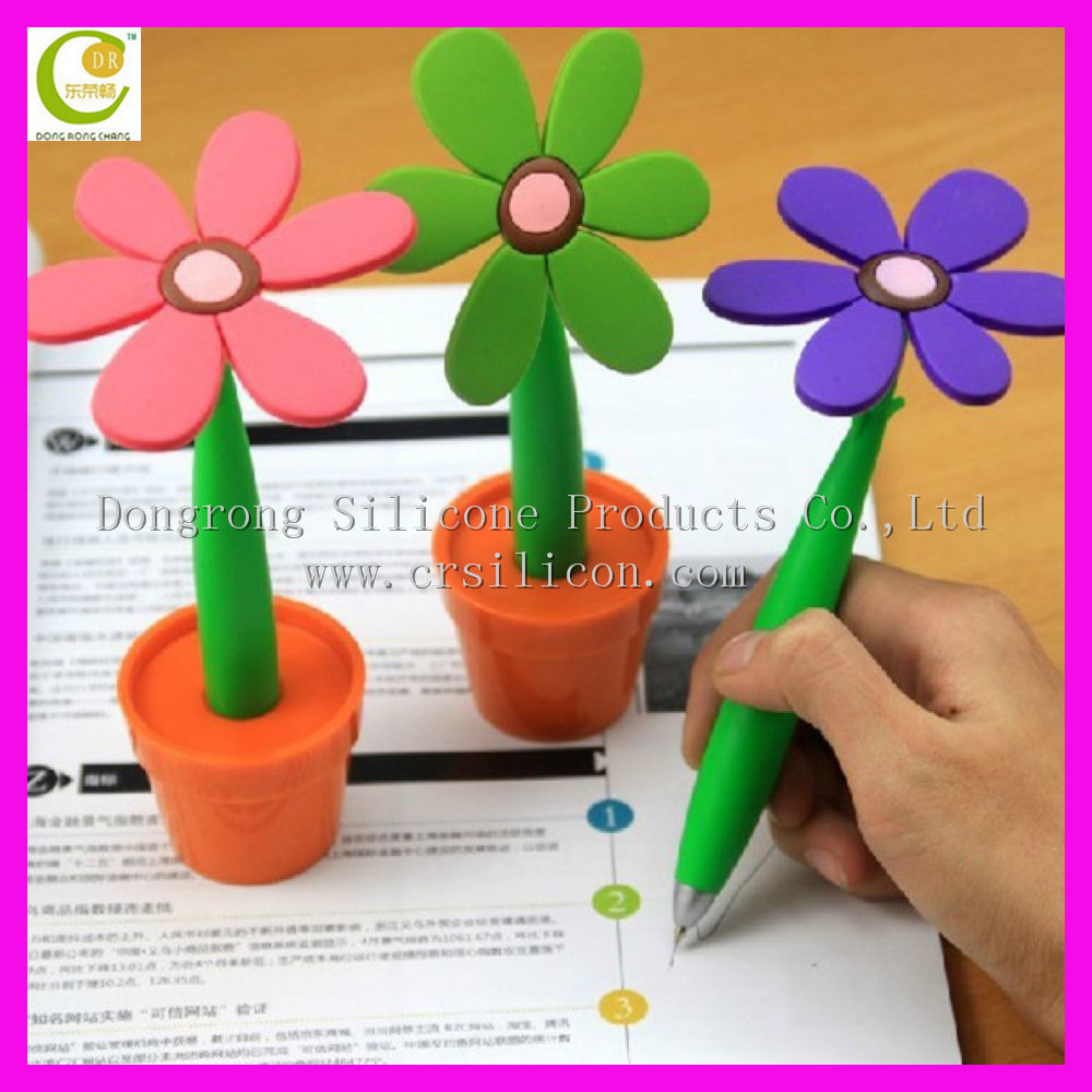 Factory Custom Made Creative Soft Body food grade children silicone pen for <strong>Promotion</strong>