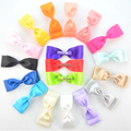 New Handmade ribbon bow hairpin double big bow half a pack of 18 color cloth clip headdress satin bow with clips