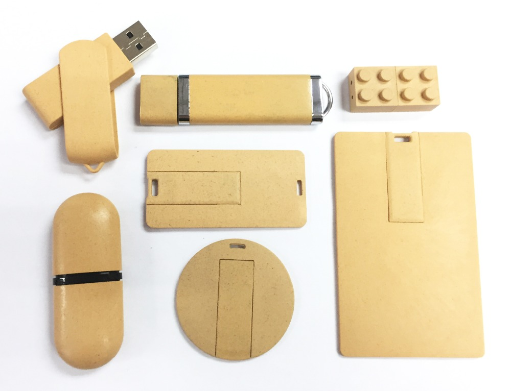 Bulk Custom Logo Recycled Biodegradable Environmental Cardboard Material 1GB USB Flash Drive for Christmas Gift