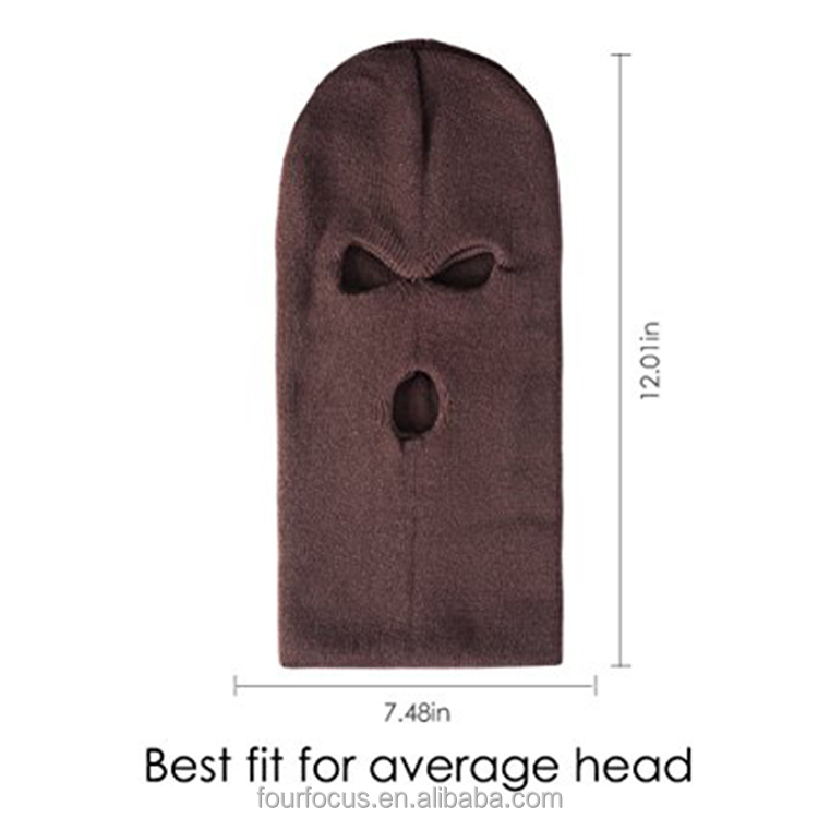 balaclava mask winter knitted ski face hat