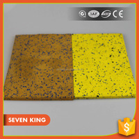 Qingdao 7king 2014 high quality 2m wide ribbed rubber mat flooring for school/gym with high density