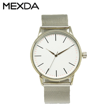 Customize stainless steel back 1 atm water resistant quartz watch for sale