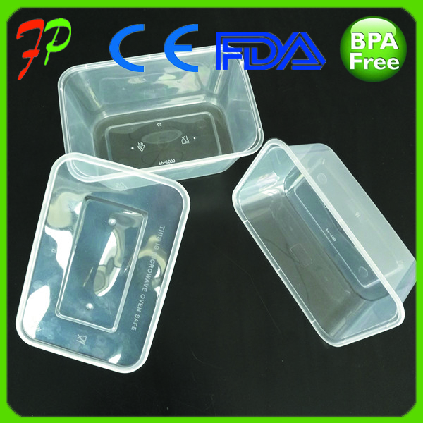 500ml Disposable Plastic PP lunch food container