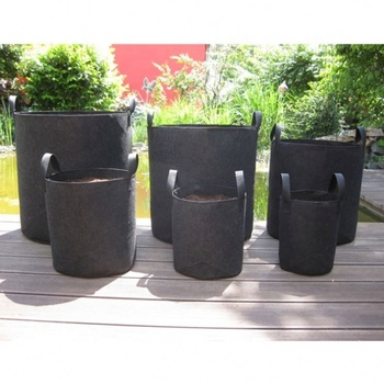Factory High quality OEM 1 / 2 / 3 / 5 / 10 / 20 / 30 / 40 / 50 / 100 / 200/300gallon plant garden felt fabric grow bags