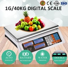 electronic table top fruit weighing scale for commerce