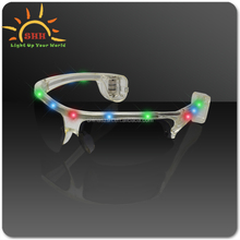 Chinese Supply 2016 Cool design Novelty Free Sample Flashing Led Sunglasses