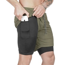 Gym men's <strong>sports</strong> tight fitness jogging wear elastic shorts pants